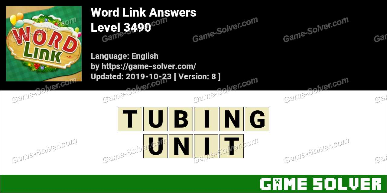 Word Link Level 3490 Answers