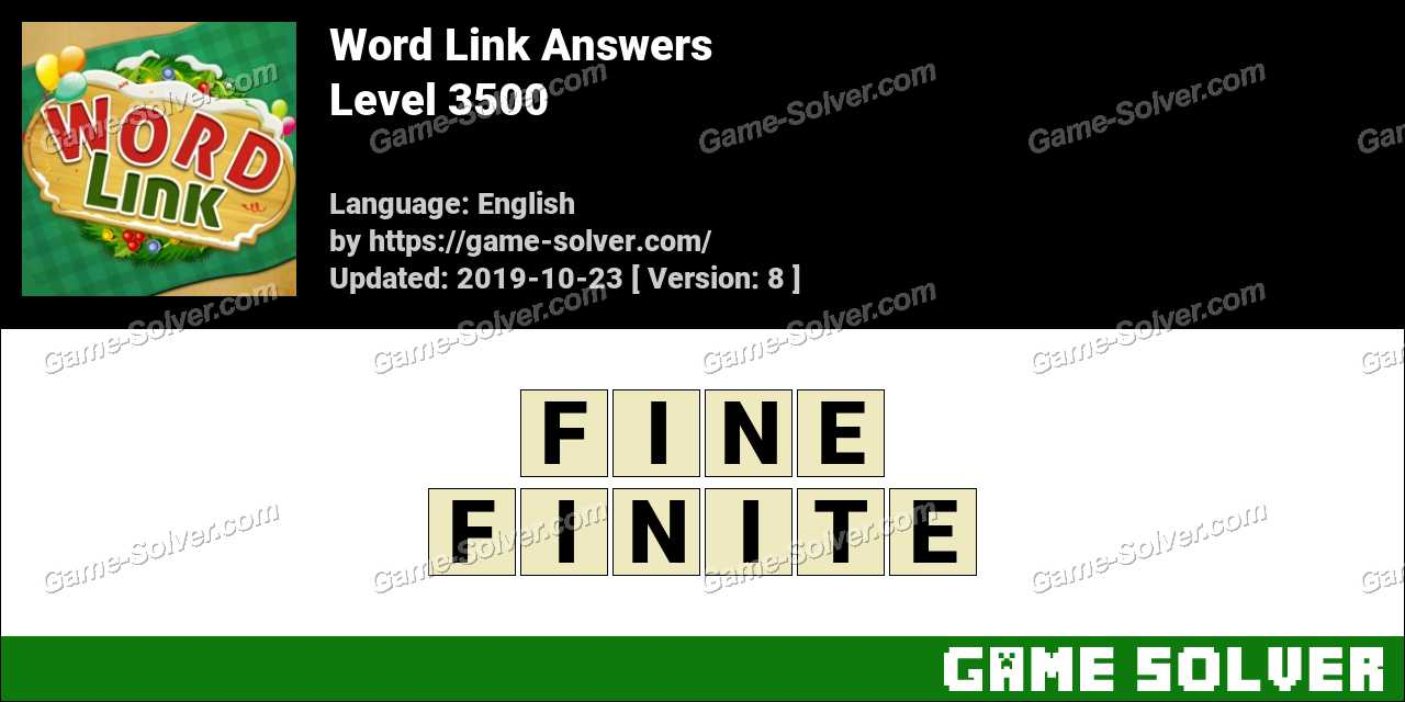 Word Link Level 3500 Answers