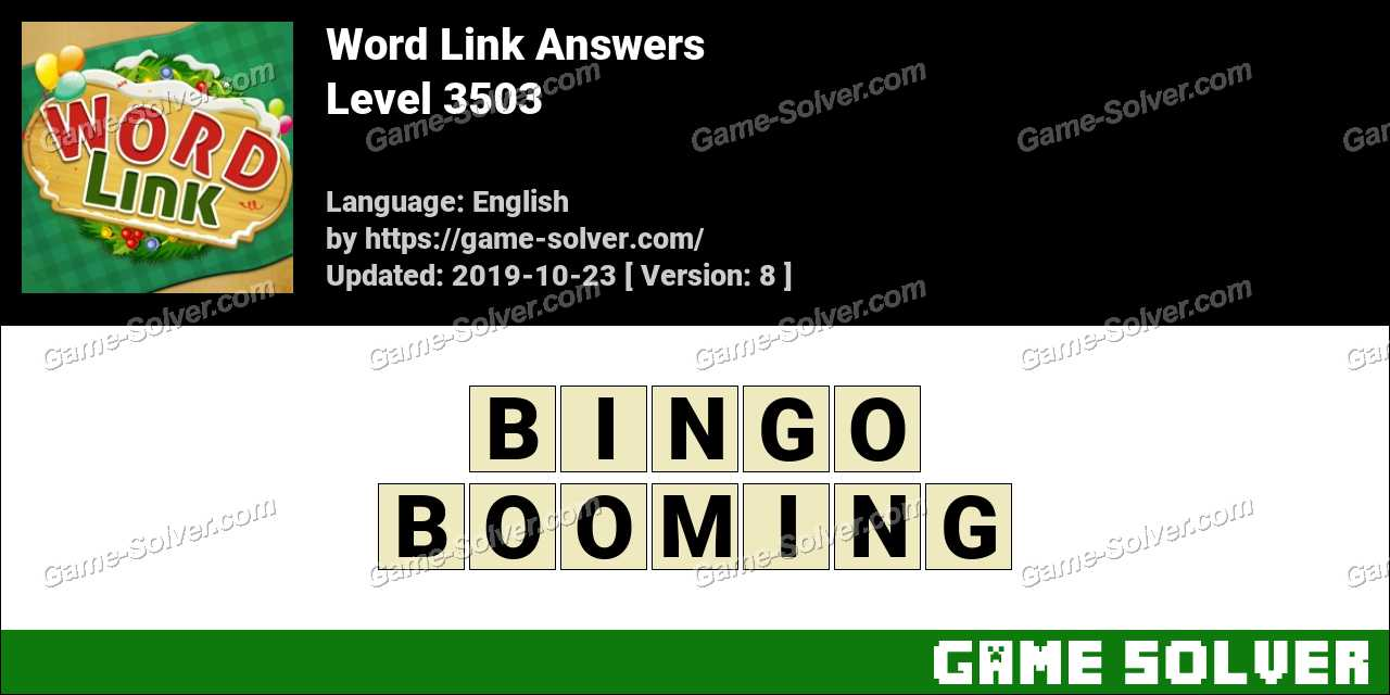 Word Link Level 3503 Answers