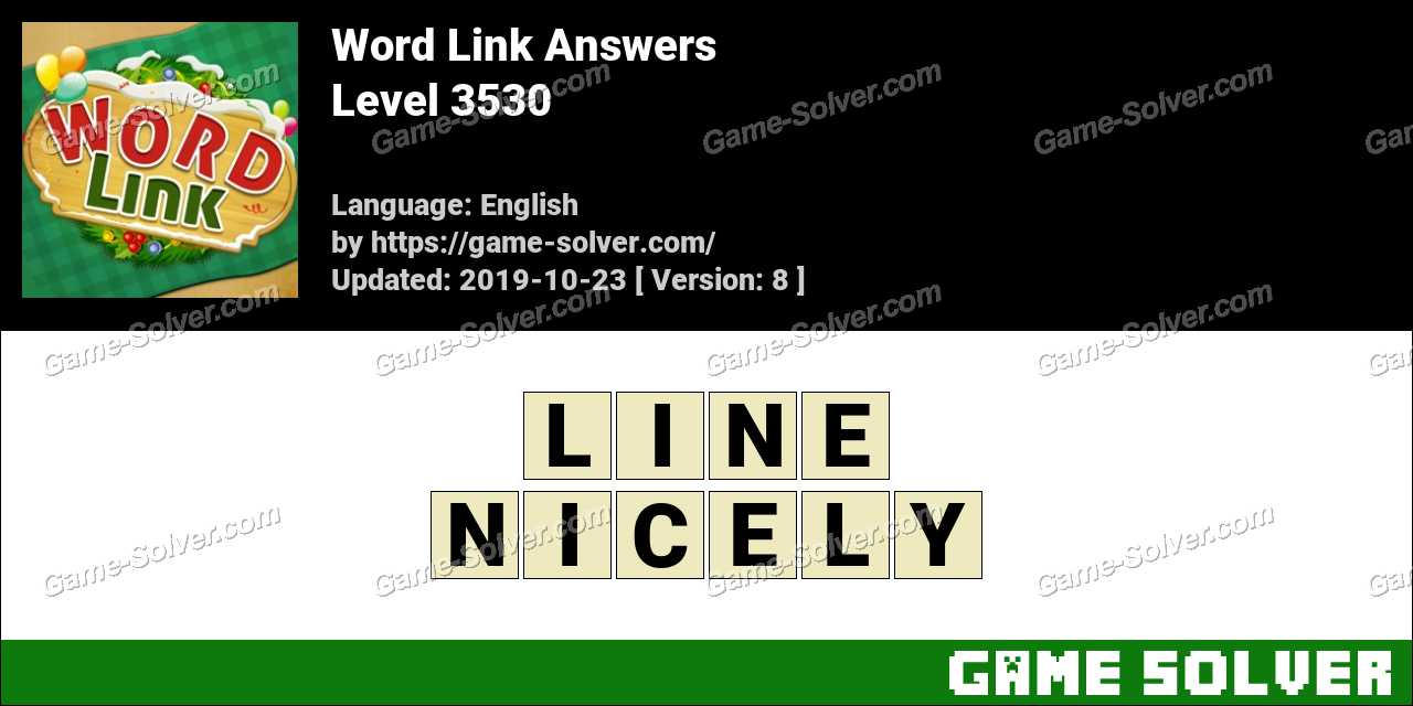 Word Link Level 3530 Answers