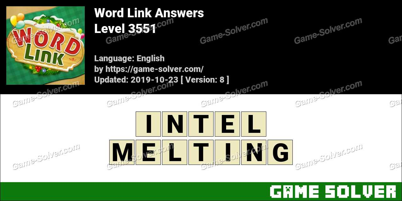 Word Link Level 3551 Answers