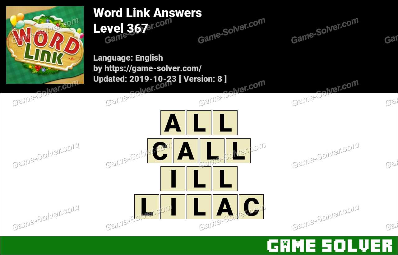 Word Link Level 367 Answers