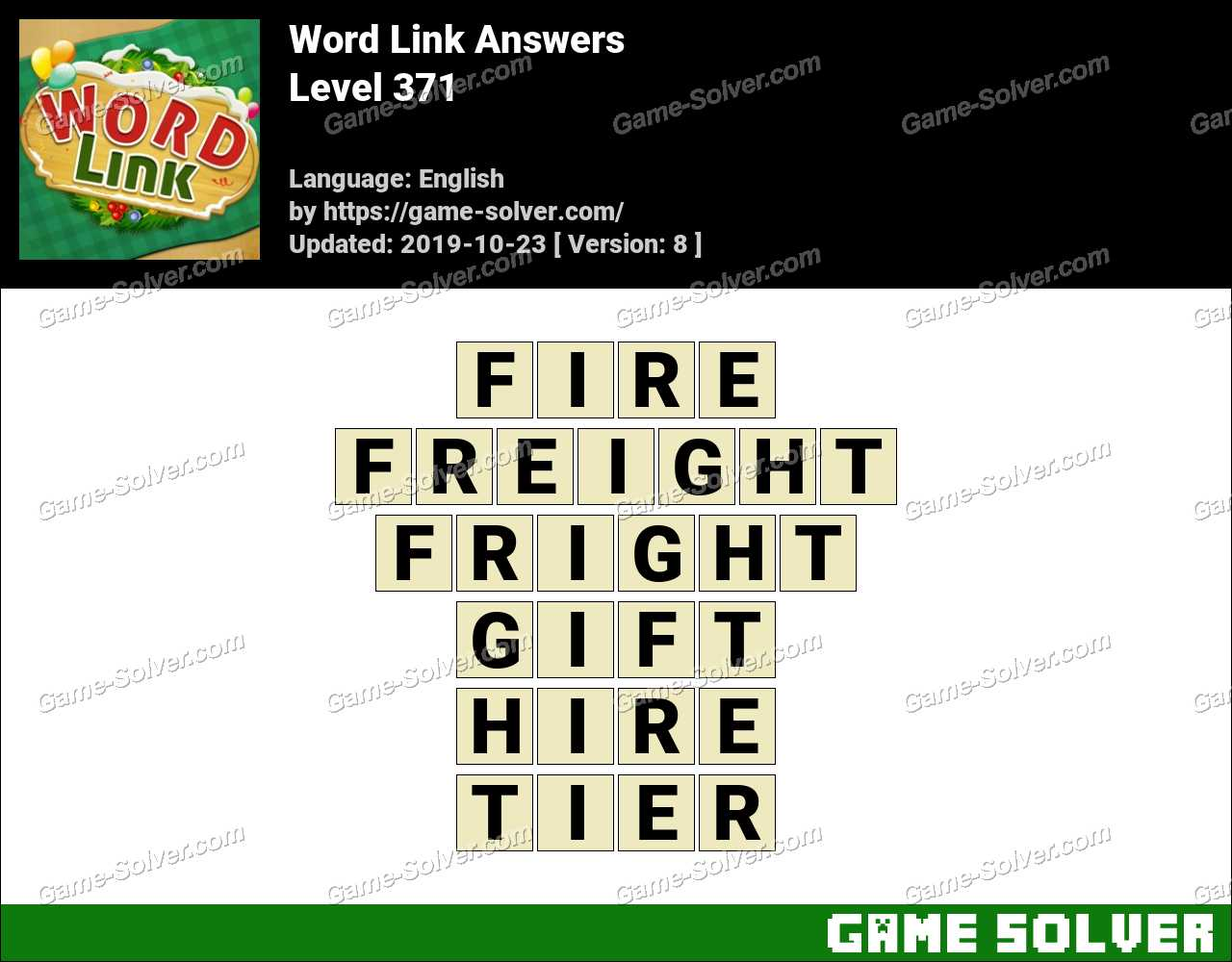 Word Link Level 371 Answers