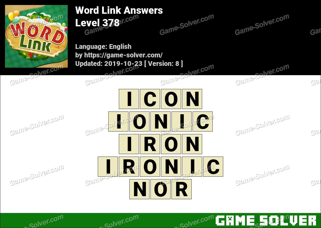 Word Link Level 378 Answers