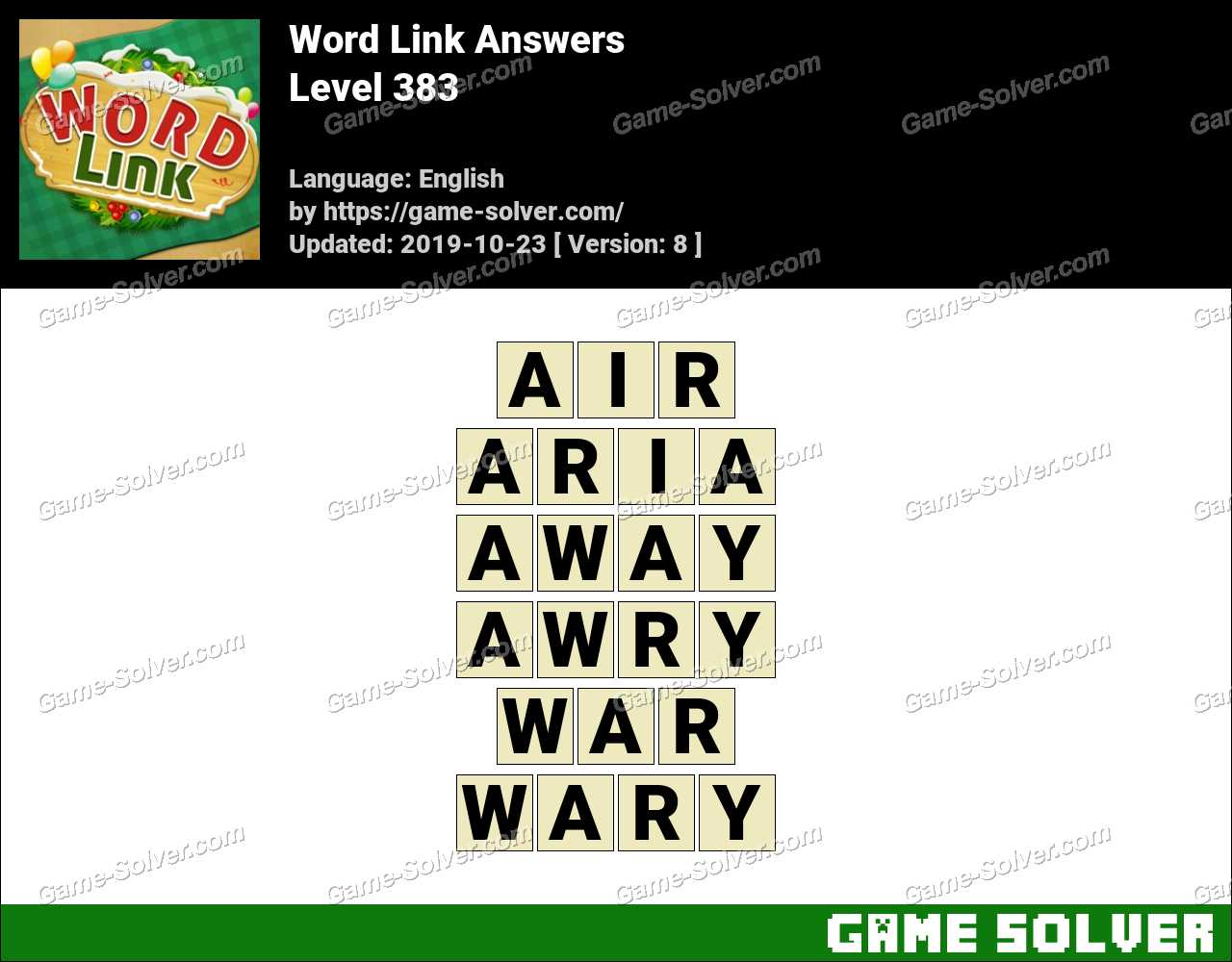 Word Link Level 383 Answers