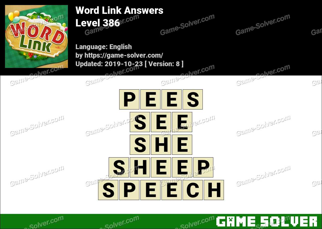 Word Link Level 386 Answers