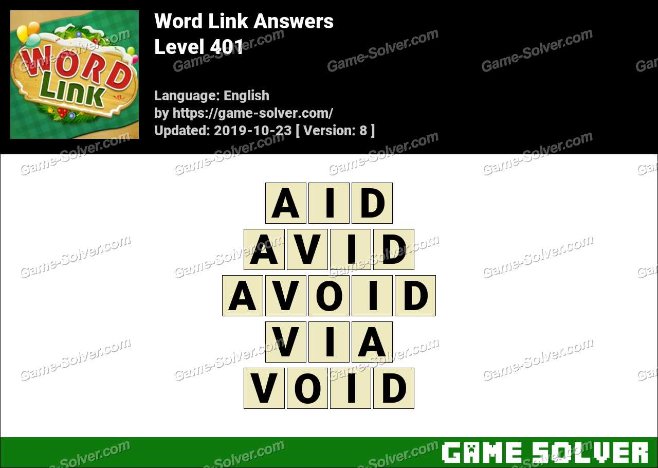 Word Link Level 401 Answers