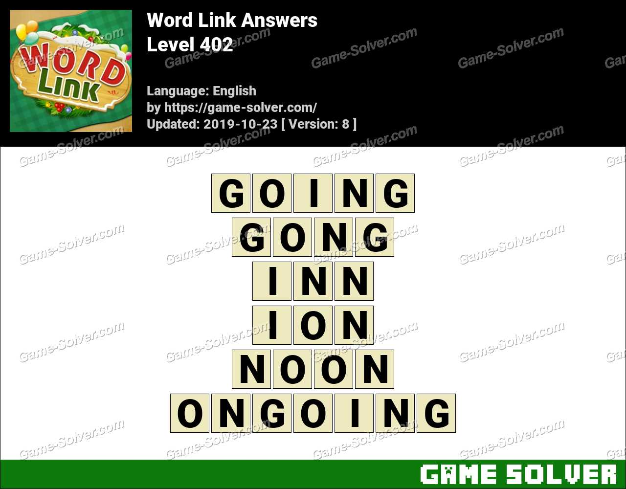 Word Link Level 402 Answers