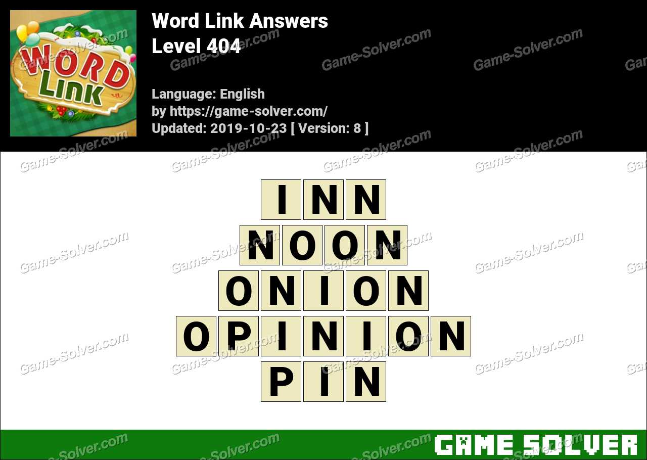 Word Link Level 404 Answers