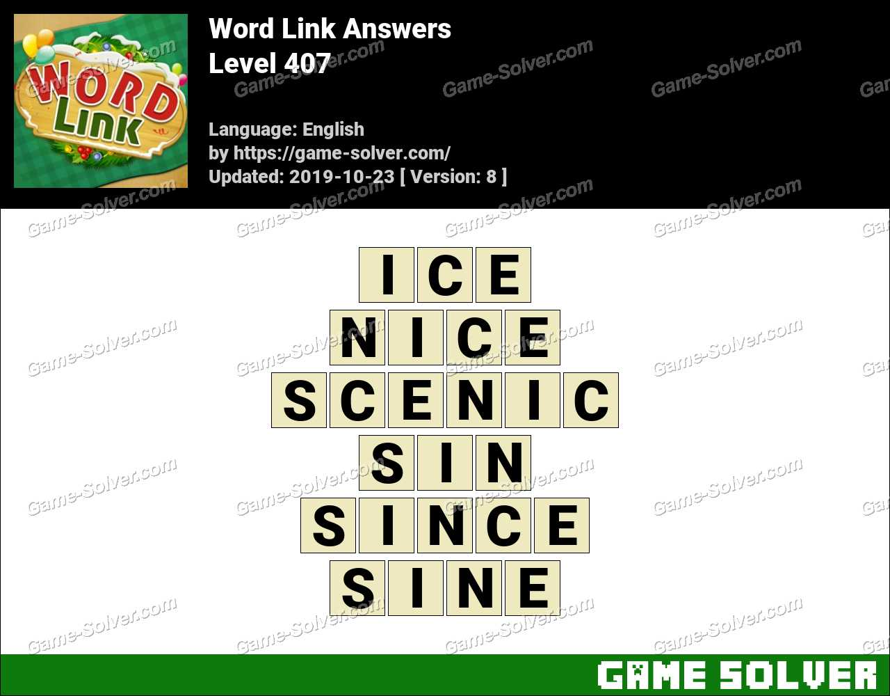 Word Link Level 407 Answers