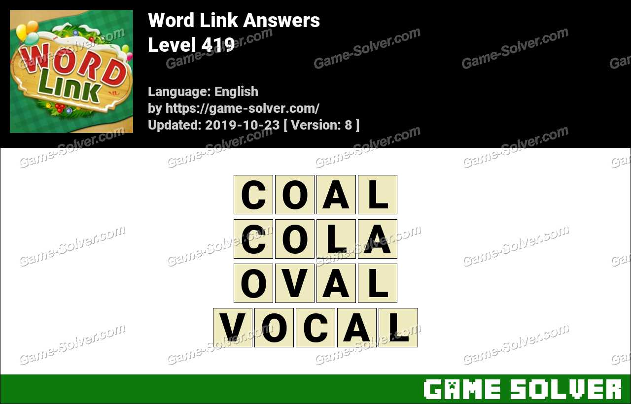 Word Link Level 419 Answers