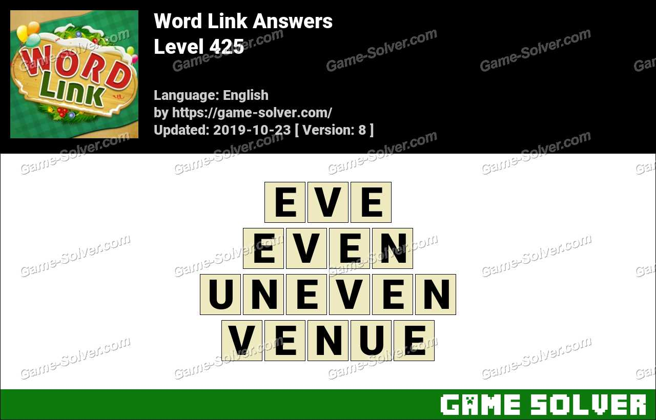 Word Link Level 425 Answers