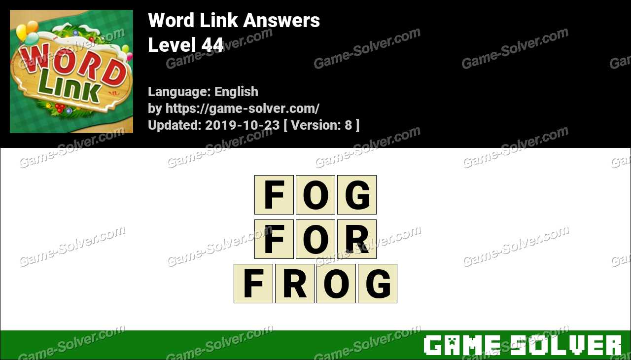 Word Link Level 44 Answers