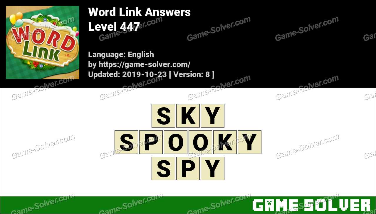 Word Link Level 447 Answers