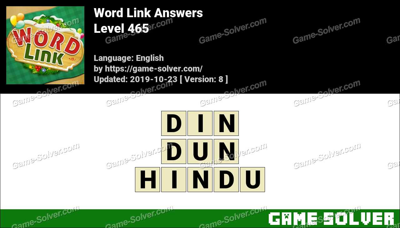 Word Link Level 465 Answers