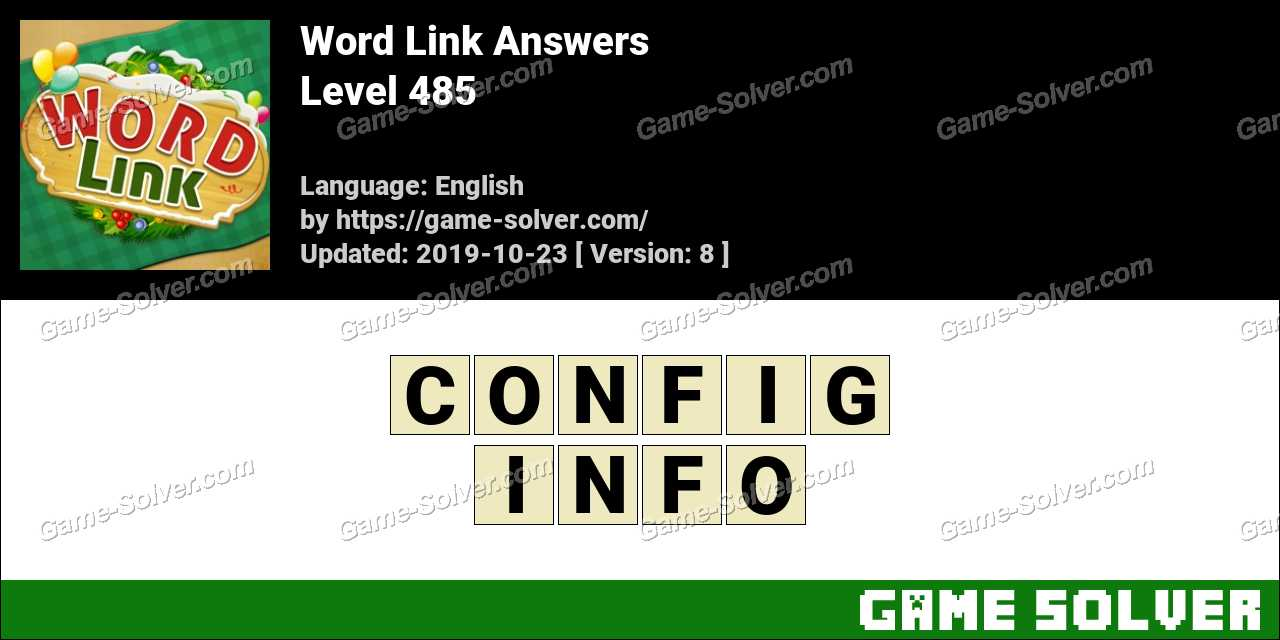 Word Link Level 485 Answers