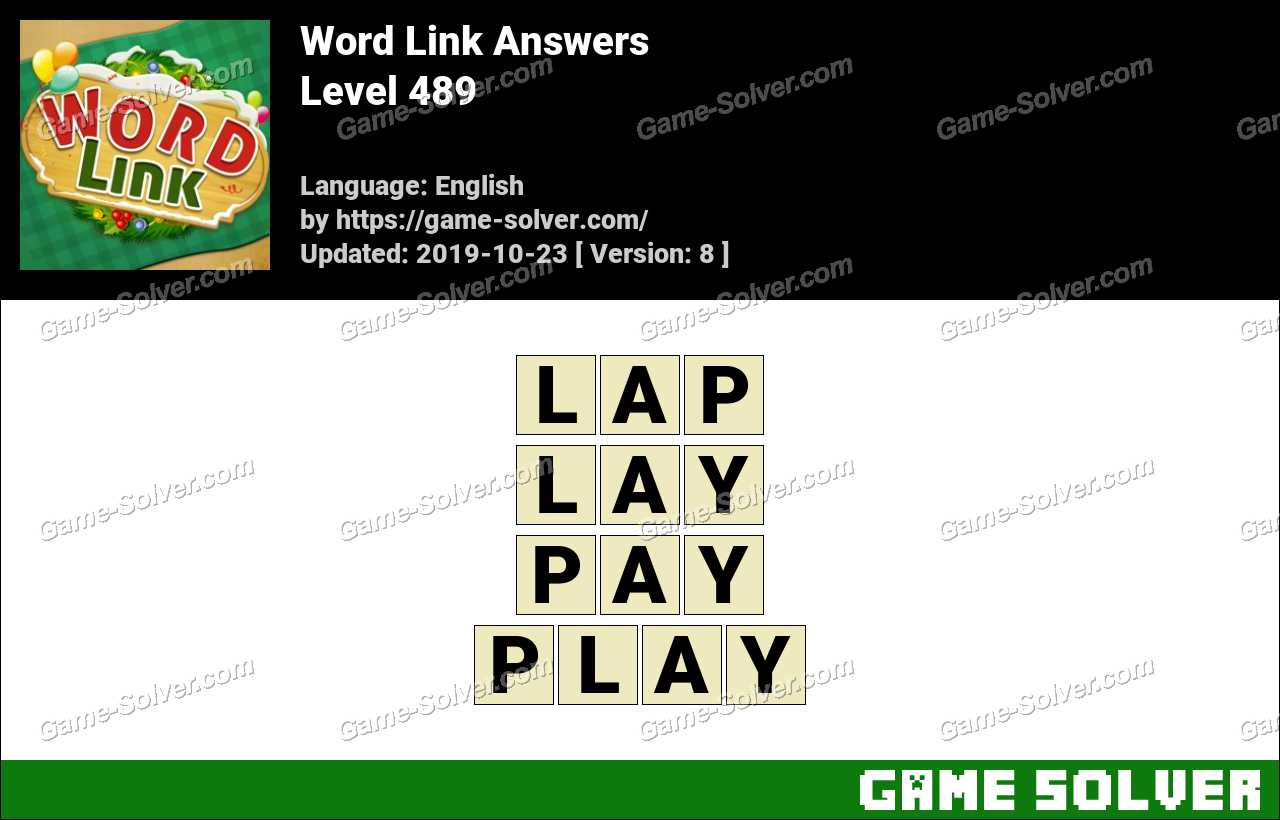 Word Link Level 489 Answers