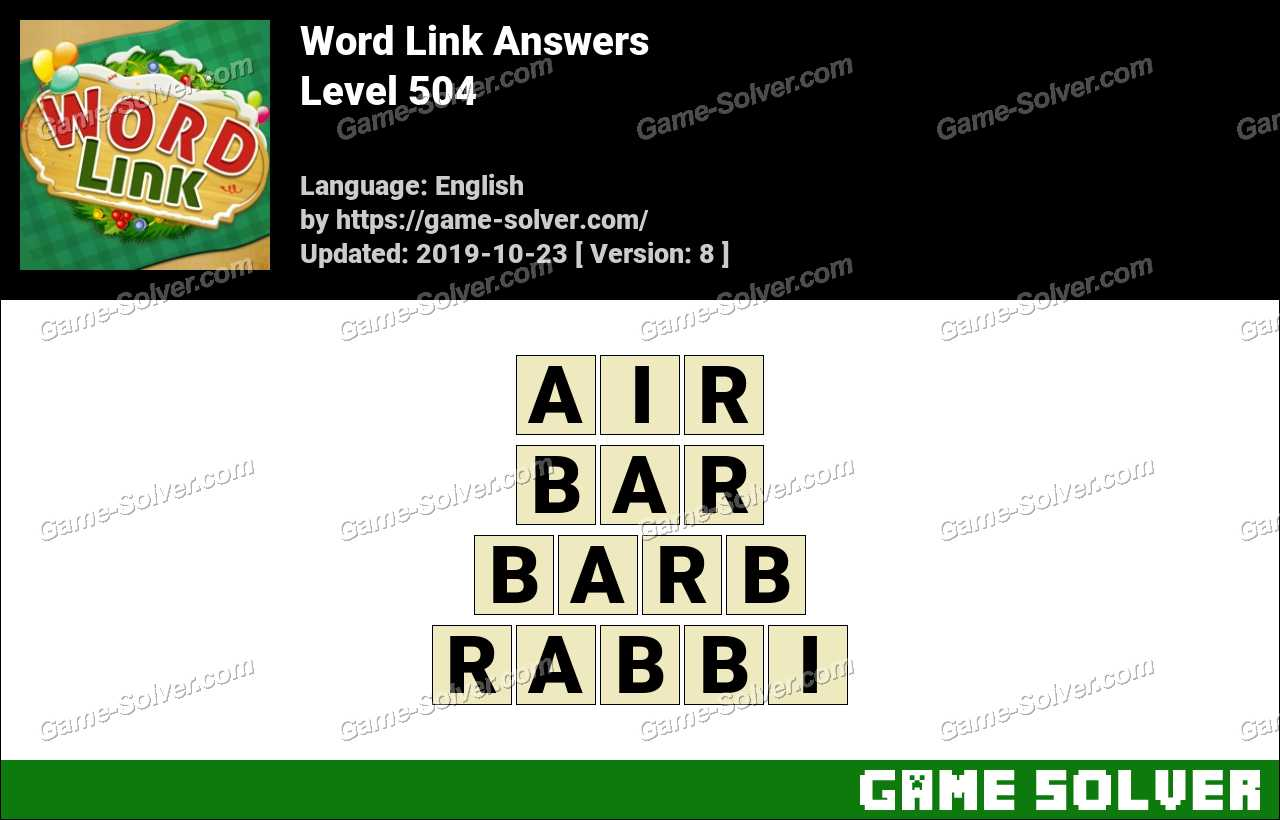 Word Link Level 504 Answers