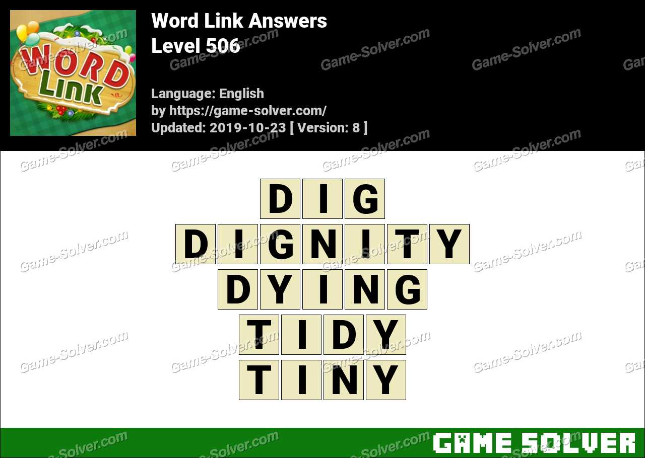 Word Link Level 506 Answers