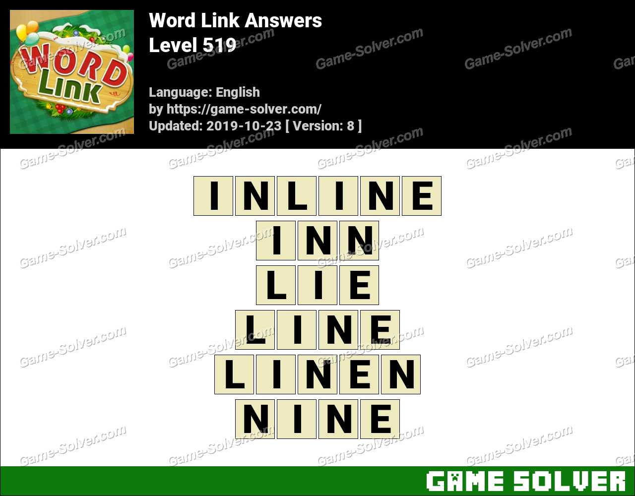 Word Link Level 519 Answers