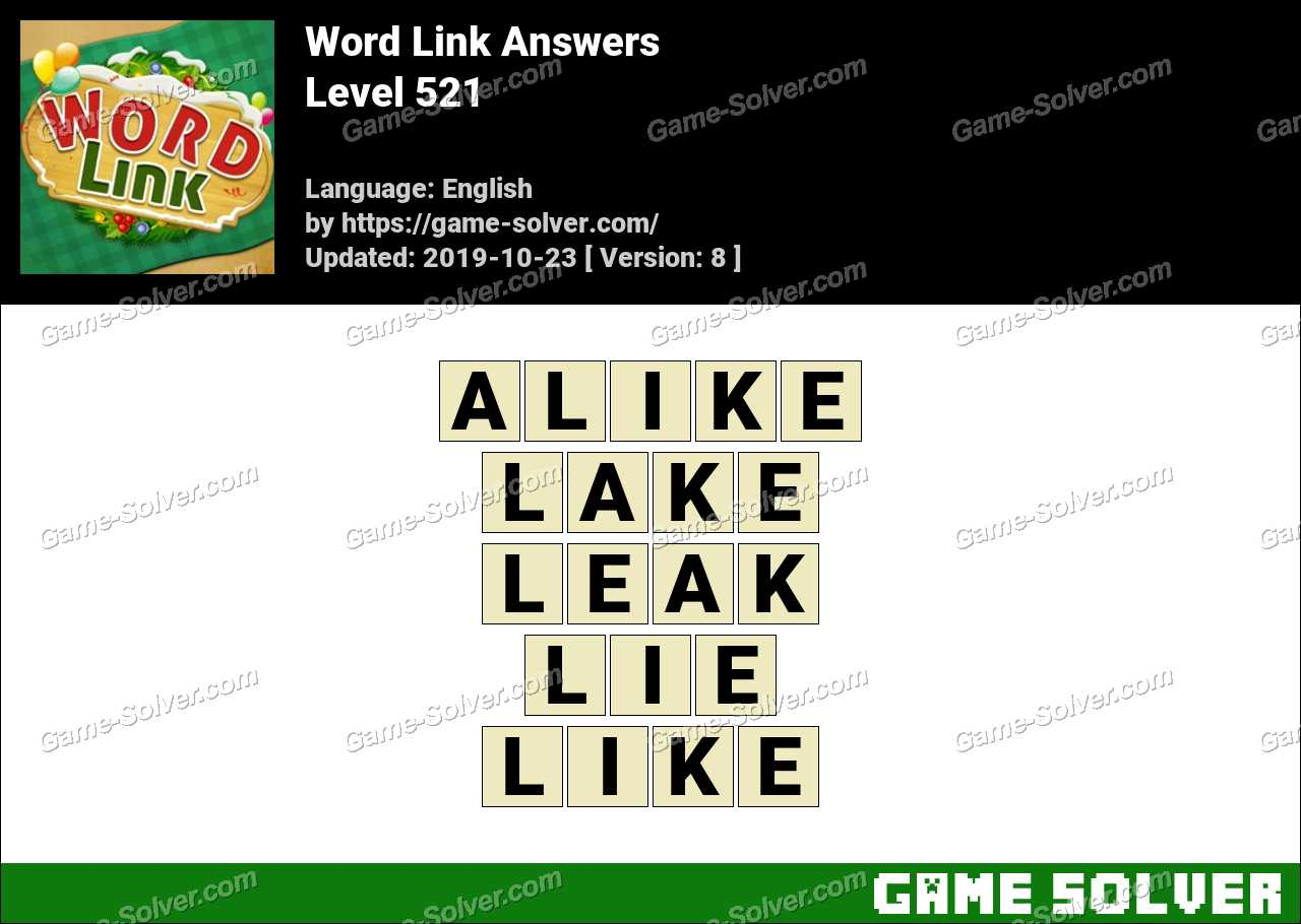 Word Link Level 521 Answers