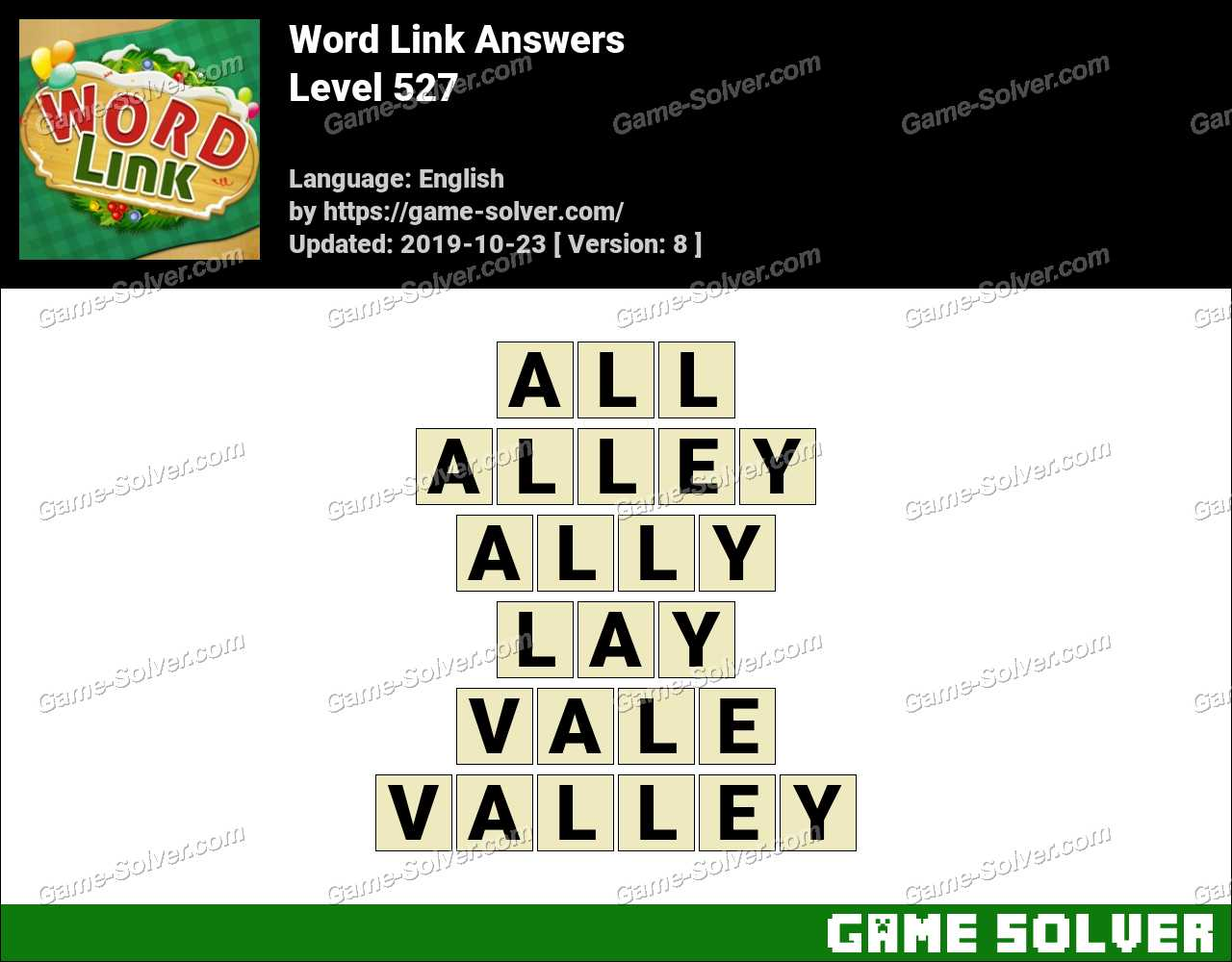 Word Link Level 527 Answers