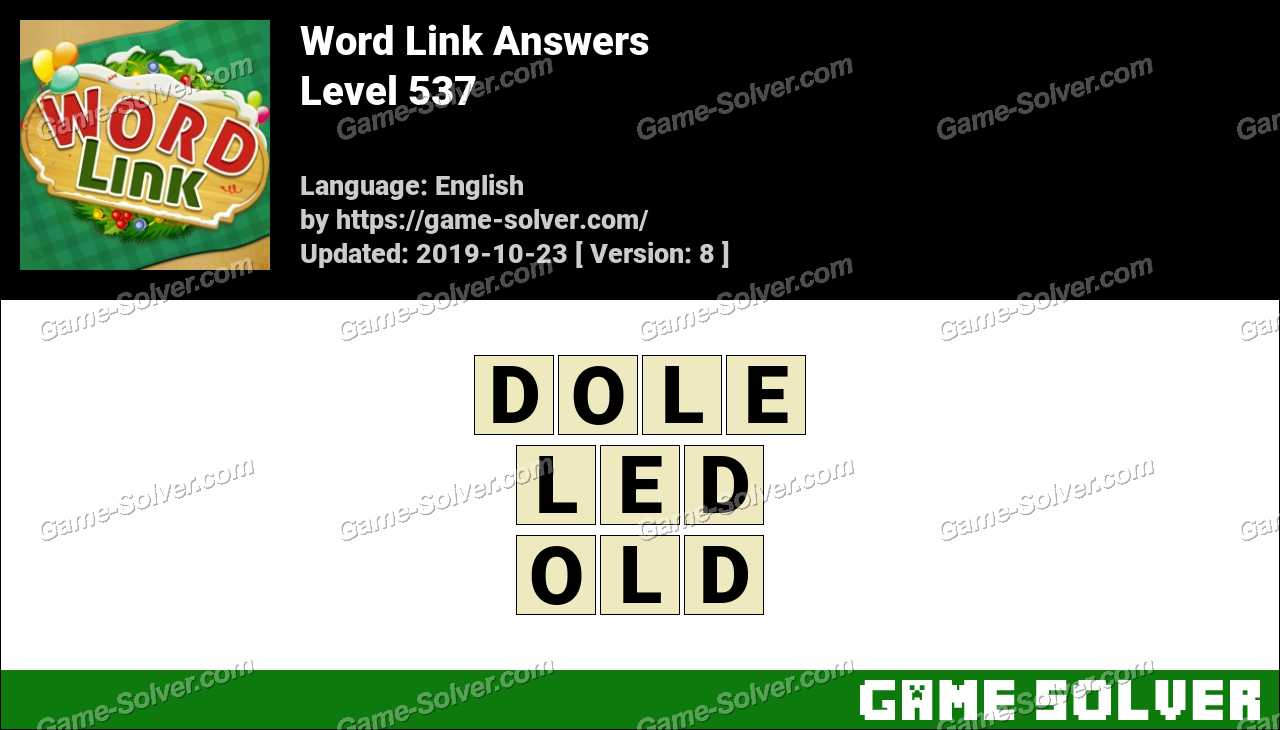 Word Link Level 537 Answers