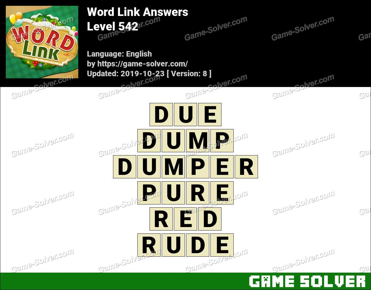 Word Link Level 542 Answers