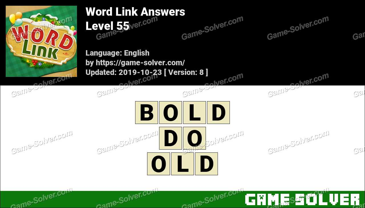 Word Link Level 55 Answers