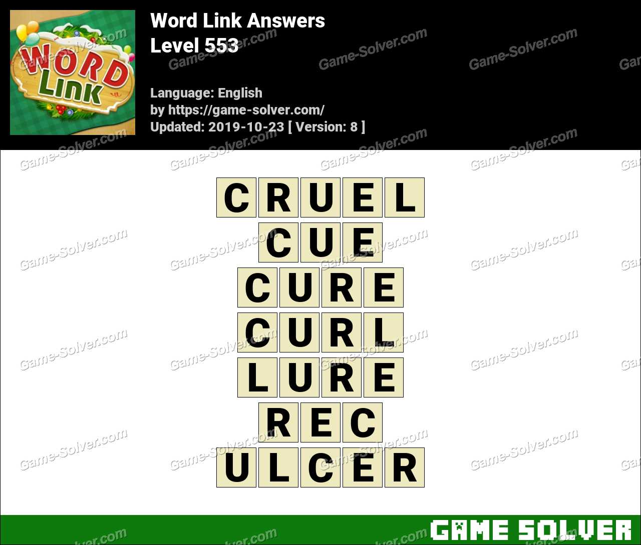 Word Link Level 553 Answers