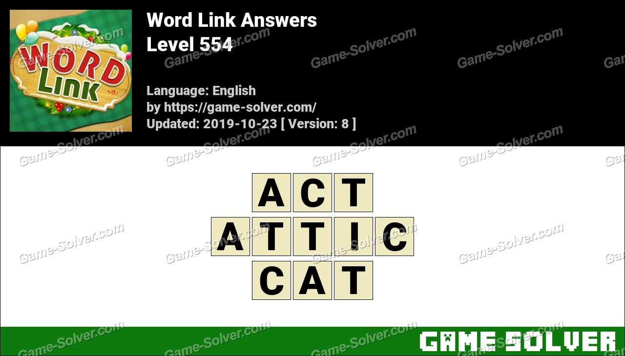 Word Link Level 554 Answers