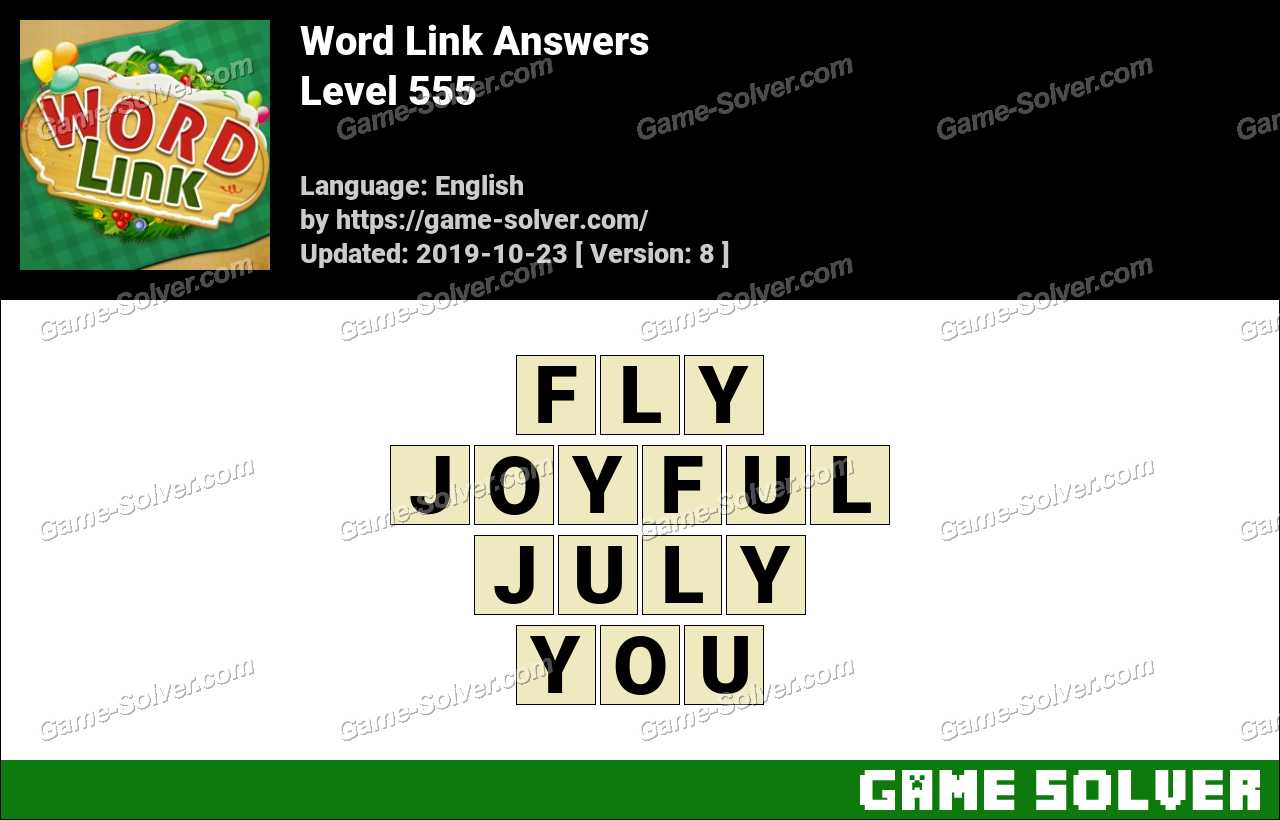 Word Link Level 555 Answers