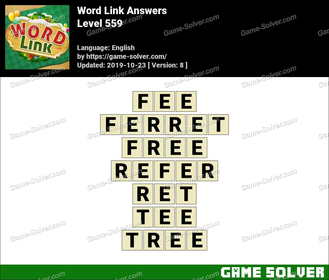 Word Link Level 559 Answers