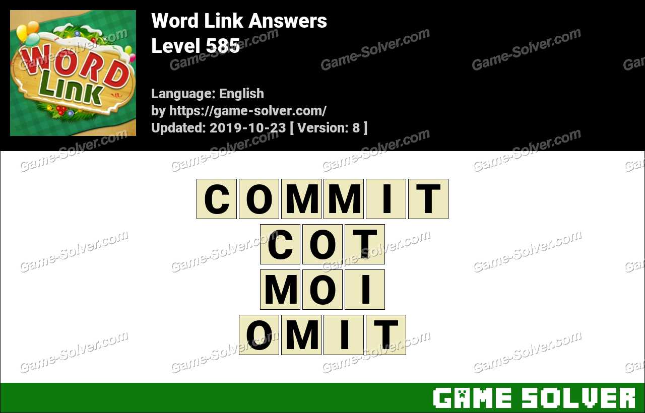 Word Link Level 585 Answers