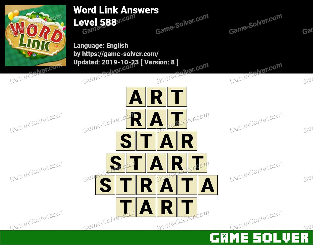 Word Link Level 588 Answers