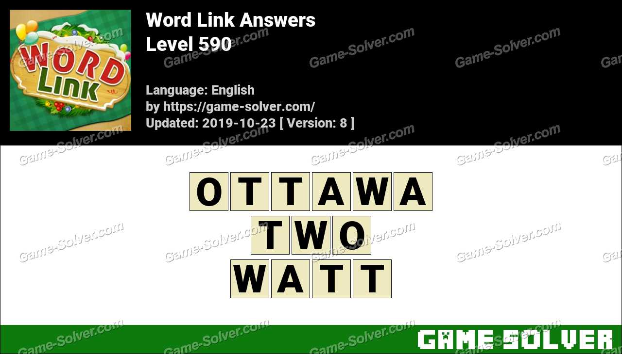 Word Link Level 590 Answers
