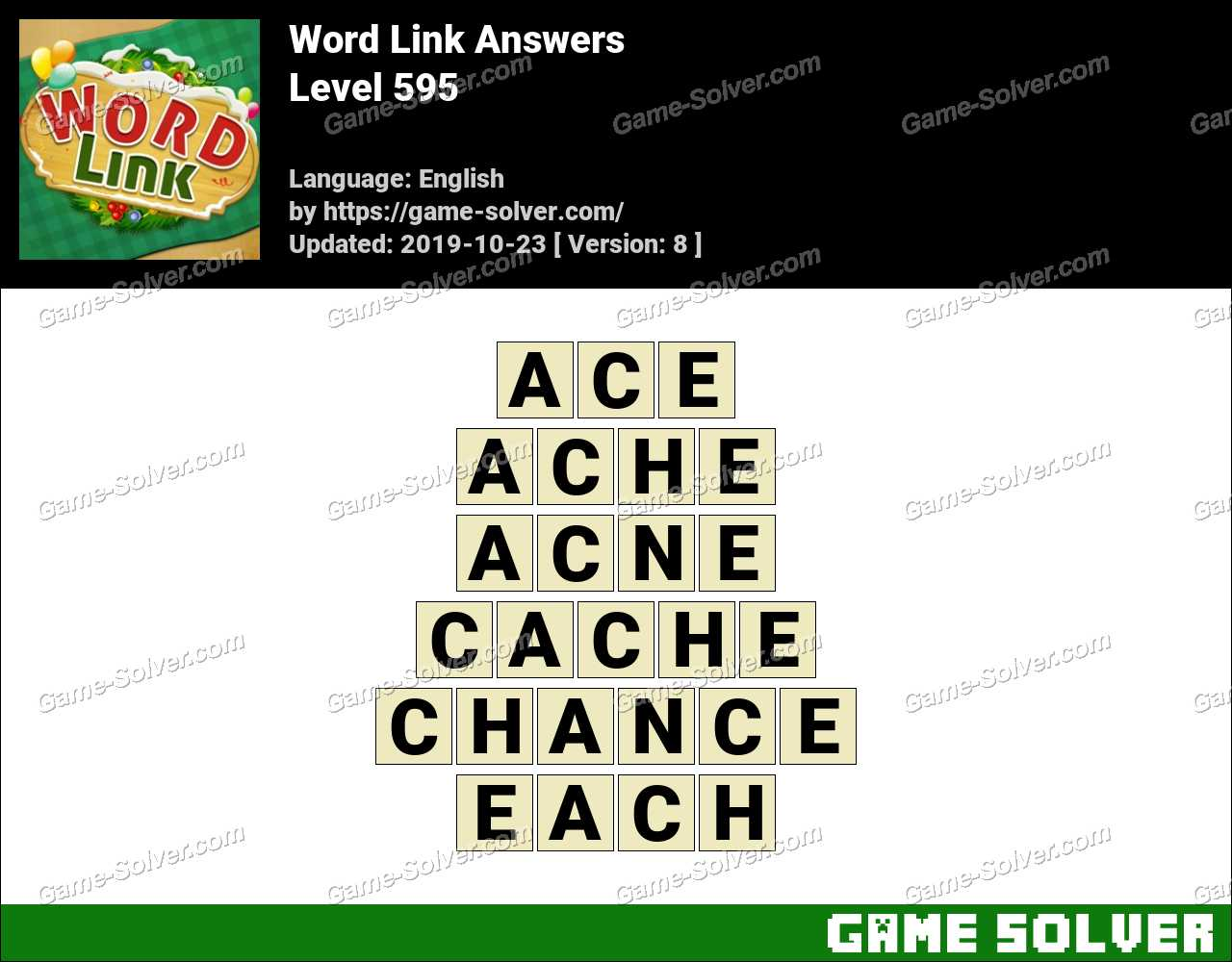 Word Link Level 595 Answers
