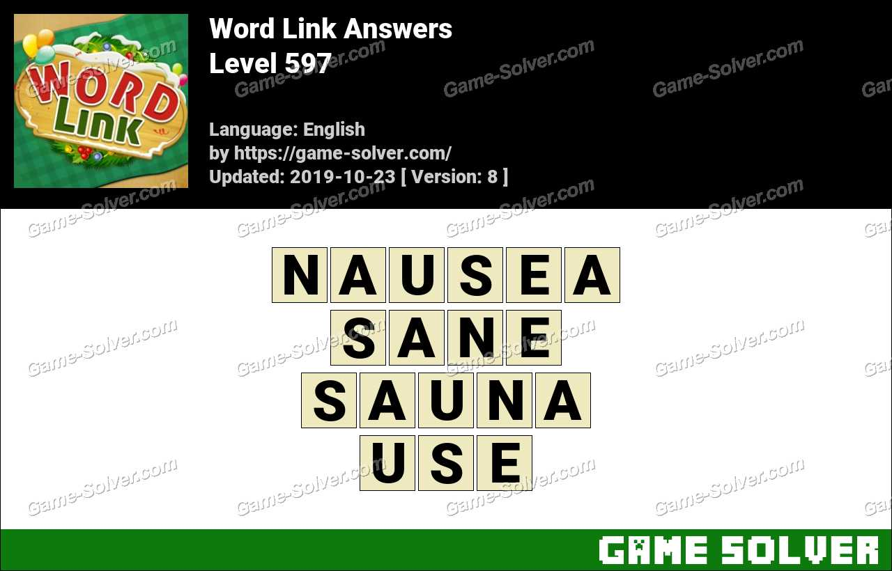 Word Link Level 597 Answers