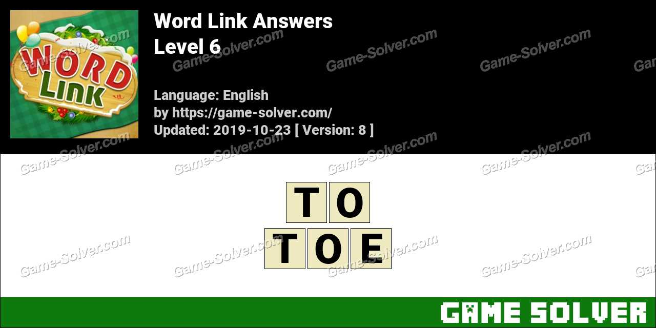 Word Link Level 6 Answers