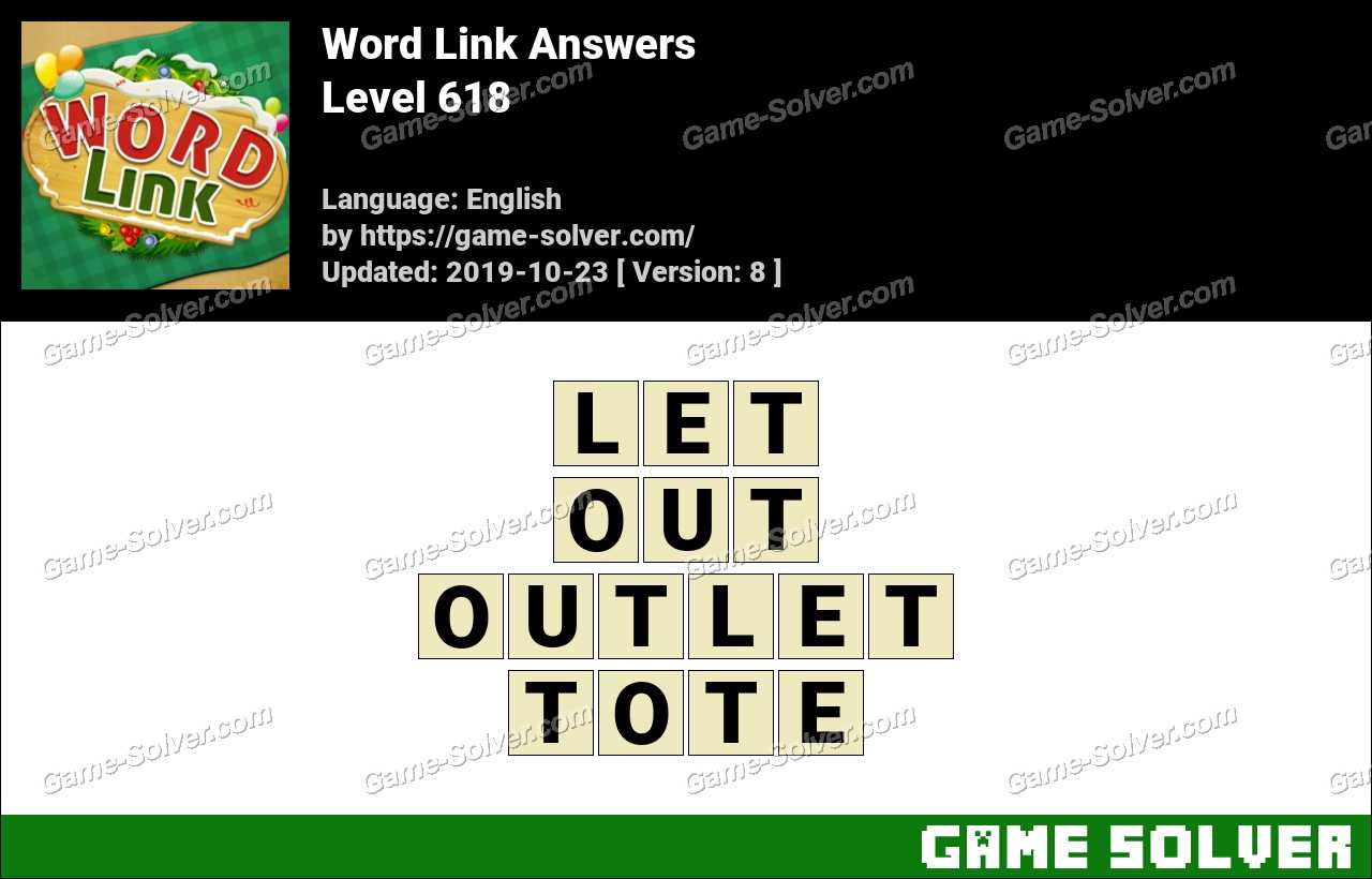 Word Link Level 618 Answers