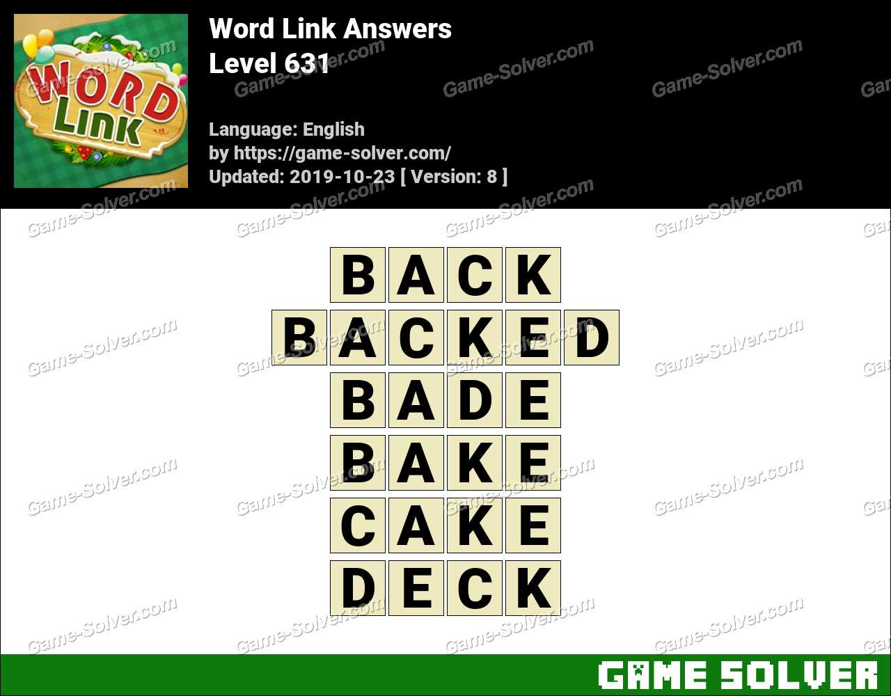 Word Link Level 631 Answers