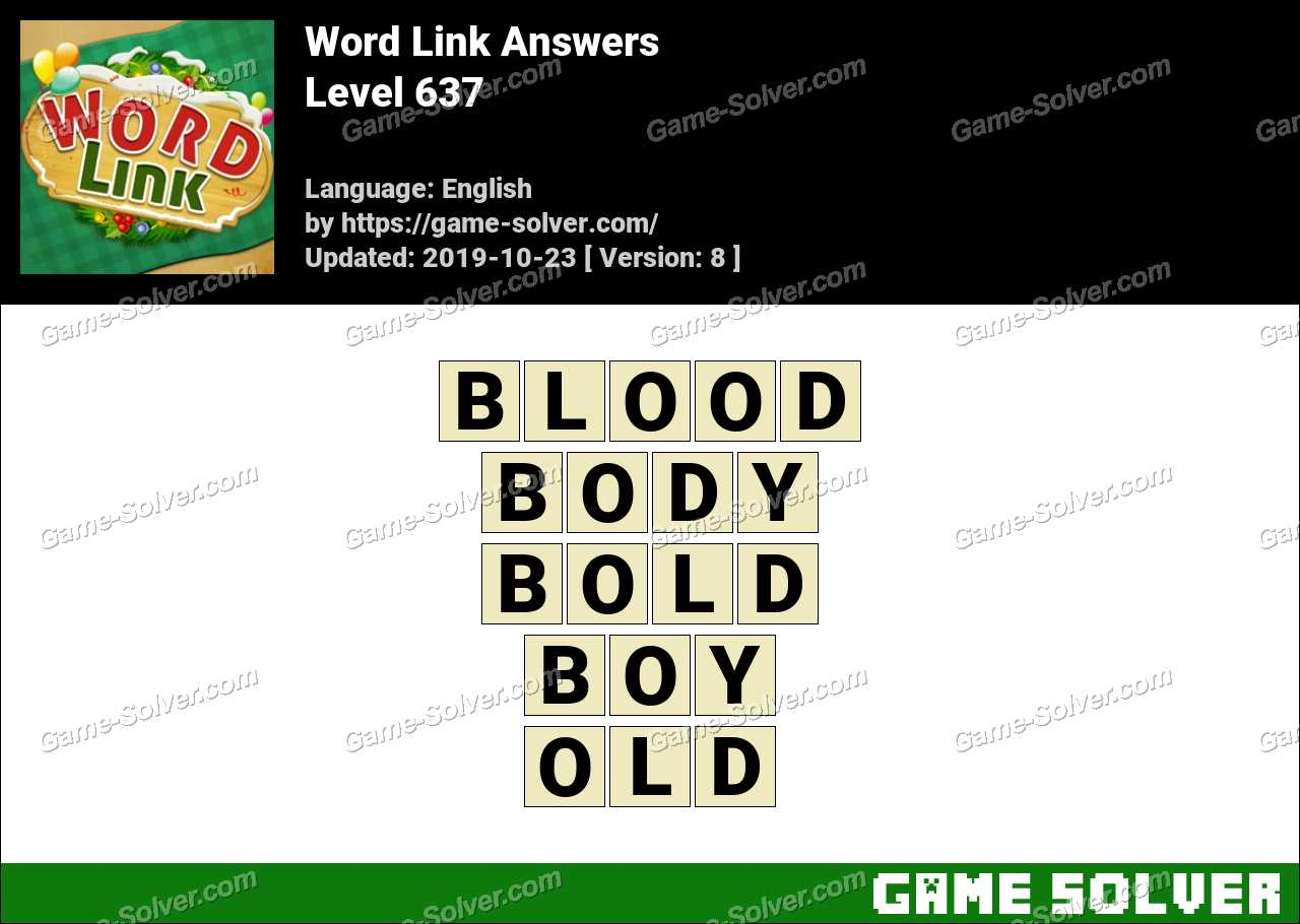 Word Link Level 637 Answers