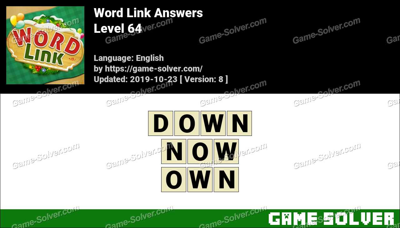 Word Link Level 64 Answers
