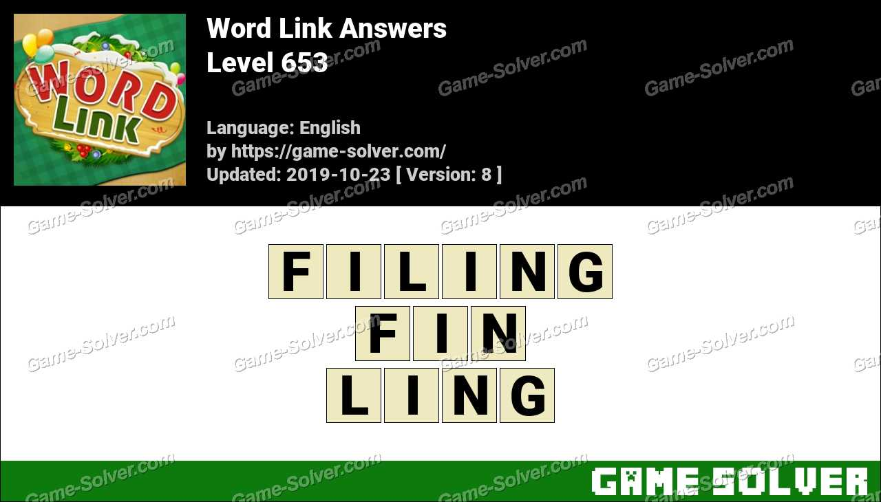 Word Link Level 653 Answers