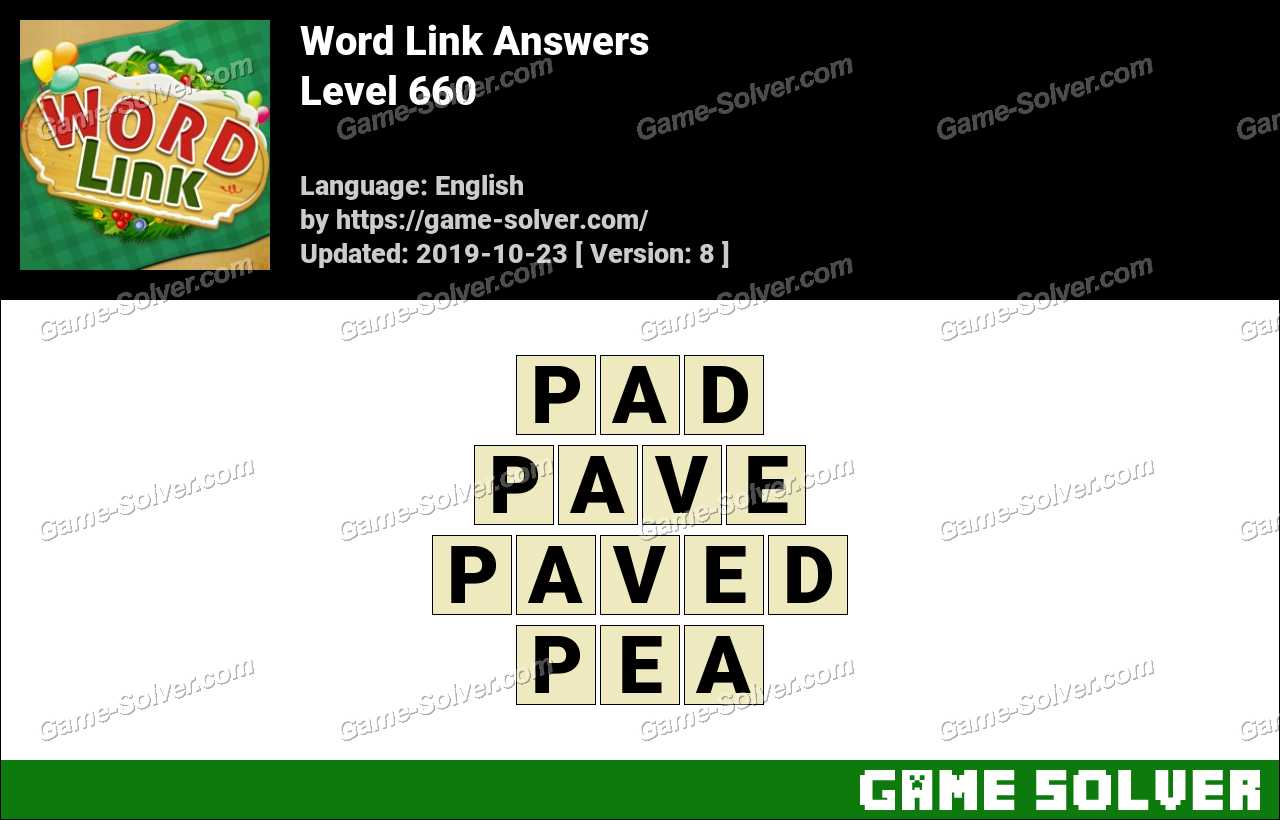 Word Link Level 660 Answers