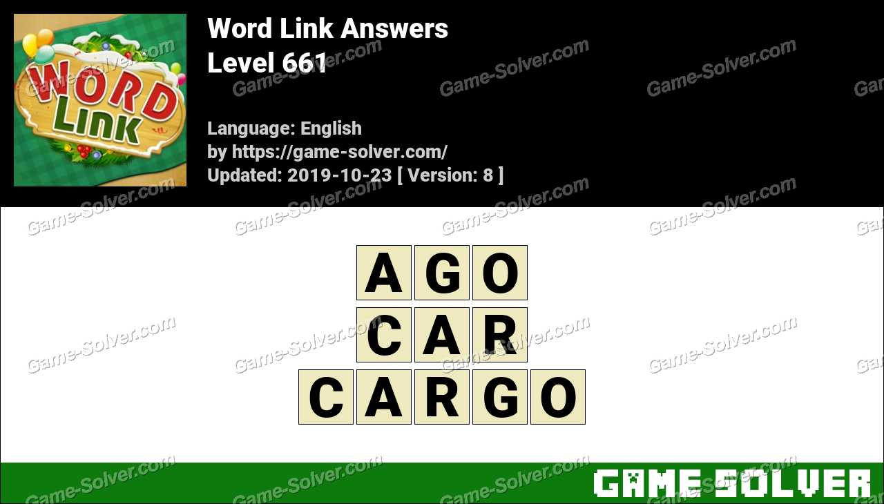 Word Link Level 661 Answers
