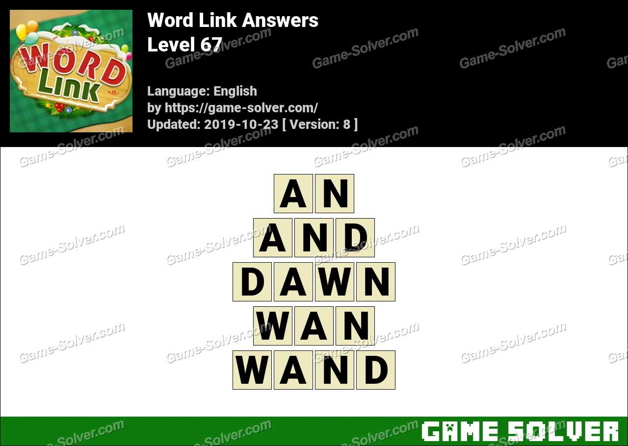 Word Link Level 67 Answers