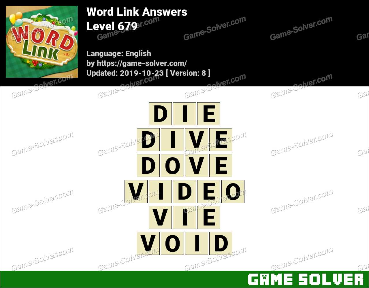 Word Link Level 679 Answers