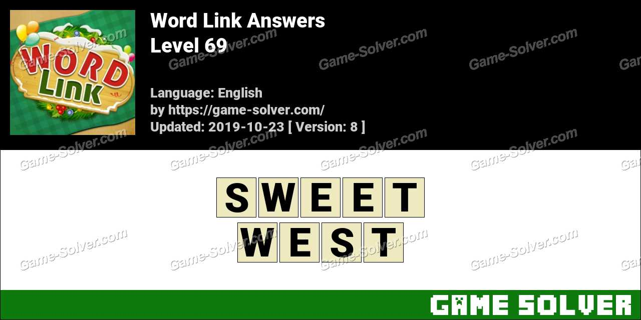 Word Link Level 69 Answers