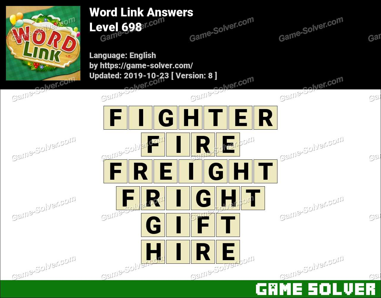 Word Link Level 698 Answers